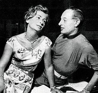 Tino Bianchi - Bianchi with the actress Diana Torrieri (1956)