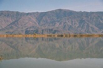 Diaz Lake - Looking east toward Inyo Mountains