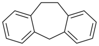 Skeletformulo de dibenzociclohepteno