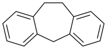 Skeletal formula of dibenzocycloheptene