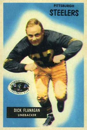 Dick Flanagan - Flanagan on a 1955 Bowman football card