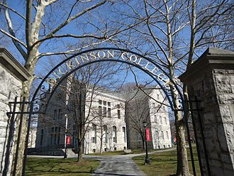 Dickinson College - Entrance to the Academic Quad showing Bosler Hall.
