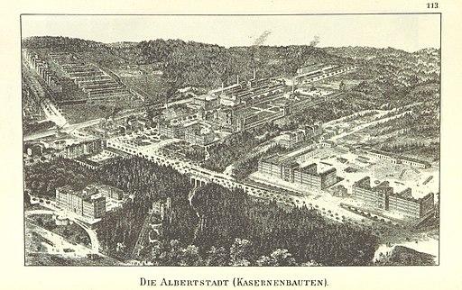 Die Albertstadt Dresden Kasernenbauten, 1893 [Public domain], via Wikimedia Commons (British Library HMNTS)