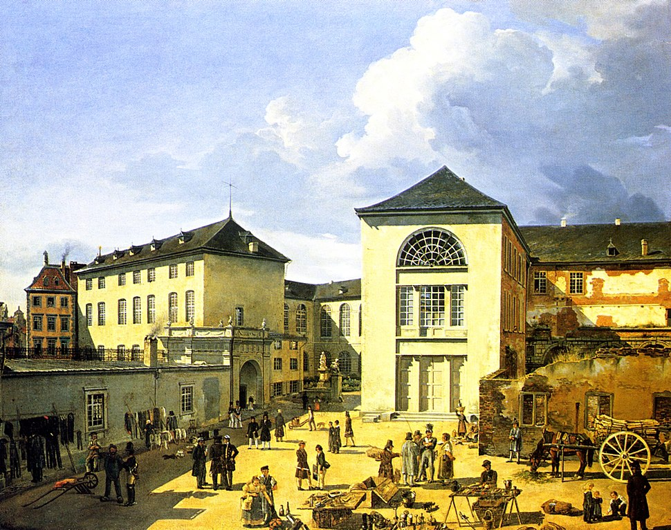 Die alte Akademie in Duesseldorf by Andreas Achenbach 1831