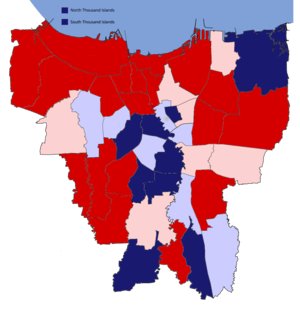 Jakarta gubernatorial election, 2012 - Image: District results of the 2012 Jakarta gubernatorial election