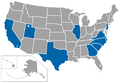 Division I Basketball independents map.png