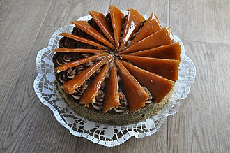 Dobos torte - Dobos torta at Napfényes Cukrászat (pastry shop), Budapest