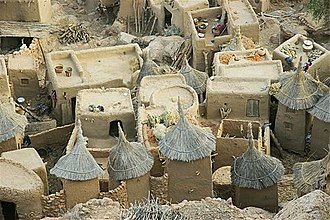 Dogon people - A typical Dogon village.