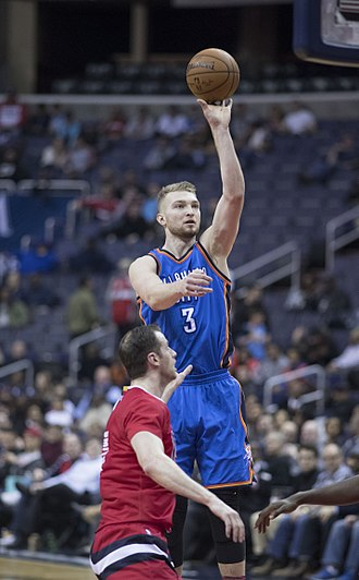 Domantas Sabonis - Sabonis with the Thunder in February 2017