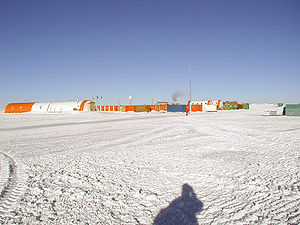 Concordia Station - The main part of the summer camp at Dome C (Concordia) Station in January 2005