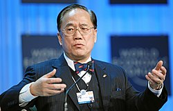 Donald Tsang at WEF 2012