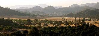 Hidden Valley, Ventura County, California - Dos Vientos Ranch — Hidden Valley and the Santa Monica Mountains.