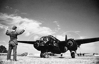 RAF Bradwell Bay - RCAF Douglas Boston Mk III taxiing at RAF Bradwell Bay in 1942