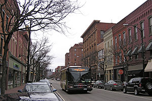 Corning (city), New York - Market Street in Corning's Gaffer District.