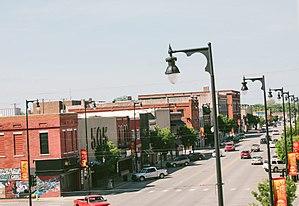 Pittsburg, Kansas - Aerial view of Downtown Pittsburg, Kansas. Photo taken 2017.