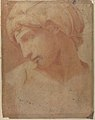 Drawing of the Head of Michelangelo's Dawn (from the Tomb of Lorenzo de' Medici, Church of San Lorenzo, Florence). MET 80.3.92.jpg