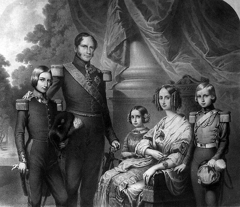 Léopold Ier et sa famille.