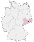 location of Dresden-Rossendorf in Germany
