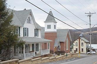 Dudley, Pennsylvania - Houses and the Methodist church
