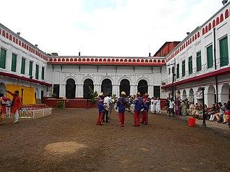 "Shobhabazar Rajbari - The thakurdalan inside the ""palace""."