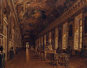 Intérieur de la galerie d'Apollon au Louvre