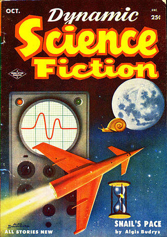 "Algis Budrys - Budrys's ""Snail's Pace"" was the cover story for the October 1953 issue of Dynamic Science Fiction"