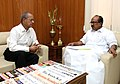 E. Sreedharan meeting the Minister of State (Independent Charge) for Consumer Affairs, Food and Public Distribution, Professor K.V. Thomas, in New Delhi on May 24, 2011.jpg