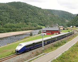 NSB Class 73 - An A-series north of Støren on the Dovre Line
