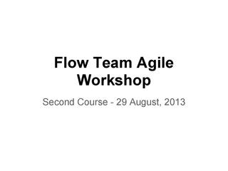 E2-Flow Agile Trainings - Second Course