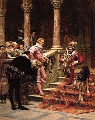 Eduardo Zamacois y Zabala - Image: EDUARDO ZAMACOIS Y ZABALA El Favorito del Rey (Colección Frankel Family Trust, Dallas, 1865 67. Óleo sobre tabla, 56 x 45 cm)