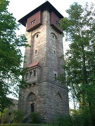 Burgberg (Erlangen) - A former water tower located on the Burgberg