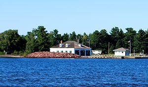 Eagle Harbor Coast Guard Station Boathouse - Image: Eagle Harbor Coast Guard Station Boathouse D
