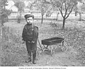 Earl Voorhies, son of Amos Earl Voorhies, playing with a toy wagon, Oregon, between 1895 and 1905 (AL+CA 2620).jpg
