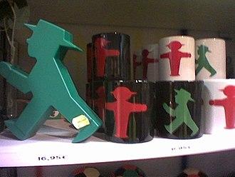 Ampelmännchen - Tourist souvenirs featuring the East German traffic lights.