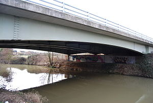A228 road - East Peckham bridge over the River Medway.