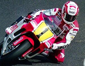 Eddie Lawson - Lawson aboard the Yamaha YZR500, 1990.