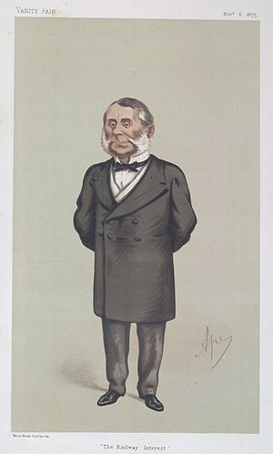 "Edward Watkin - ""The Railway Interest"". Caricature by Ape published in Vanity Fair in 1875."