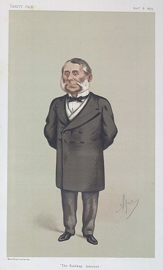 "Edward Watkin - ""The Railway Interest"". Caricature by Ape published in Vanity Fair in 1875."