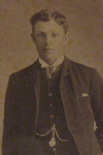 Teddy Rankin - Studio portrait of Geelong footballer, Edwin 'Teddy' Rankin, c. 1892