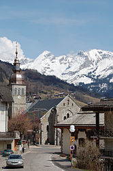 The church in Le Grand-Bornand
