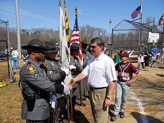 Bob Ehrlich - Ehrlich meeting members of MDTA Police Honor Guard