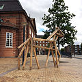Eightlegged wooden horse at Odense Old Train Station.jpg