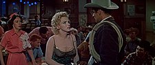 Eileen Heckart, Marilyn Monroe and Don Murray in Bus Stop trailer 1.jpg