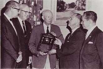 Civitan International - Dwight Eisenhower receives the World Citizenship Award on June 9, 1966.