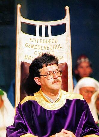 Eisteddfod - Prifardd Robin Owain in the bardic chair, 1991