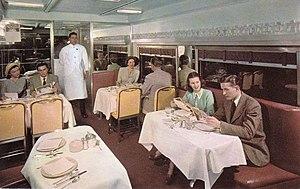 El Capitan (train) - Image: El Capitan diner Santa Fe Railroad