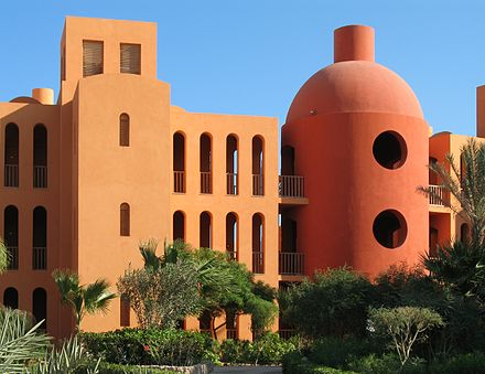 Steigenberger Hotel in El Gouna, Egypt, in association with Ahmed Hamdy, 1997 El Gouna Steigenberger 01.jpg