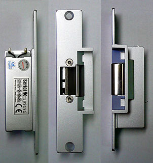 Electric strike door hardware