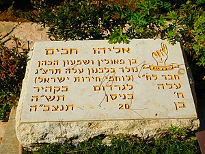 Eliyahu Hakim - Grave of Eliyahu Hakim