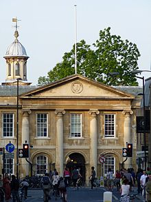 Front façade of Emmanuel College viewed from Downing Street